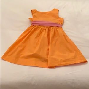 Girls Orange J.Crew Crewcuts Dress with Belt, 7.
